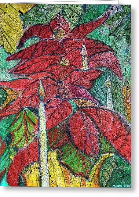 Christmas Candlelight Greeting Card by Mindy Newman