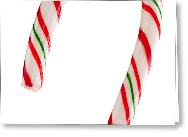 Christmas candy cane Greeting Card by Elena Elisseeva