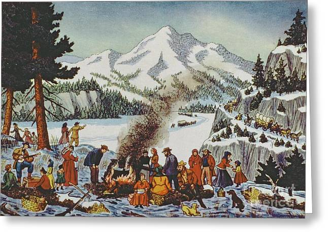Christmas Card Depicting A Pioneer Christmas Greeting Card by American School