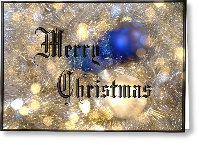 Christmas Posters Photographs Greeting Cards - Christmas Card Design Merry Christmas Greeting Card by Karen Musick