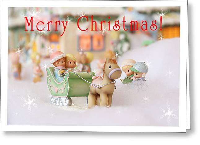 Christmas Card Greeting Card by Masha Batkova