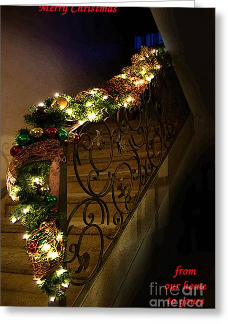 Christmas Card - Merry Christmas From Our Home To Yours Greeting Card by Al Bourassa