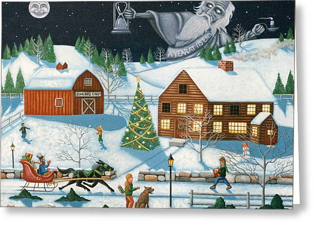 Christmas Cheer In Southern Vermont Greeting Card by Joshua Mac Allistar