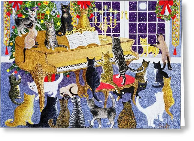 Christmas Chorus Greeting Card by Pat Scott