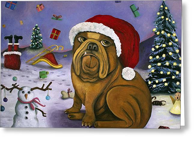 Christmas Crash Greeting Card by Leah Saulnier The Painting Maniac