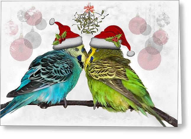 Christmas Cuddles Greeting Card by Krys Bailey