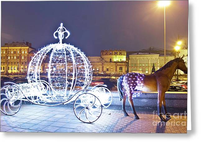 Christmas Decoration, Moscow Greeting Card by Irina Afonskaya