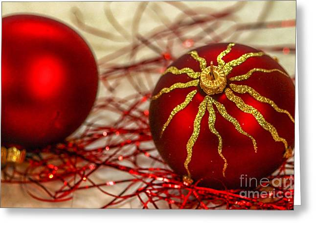 Christmas Decoration Greeting Card by Patricia Hofmeester