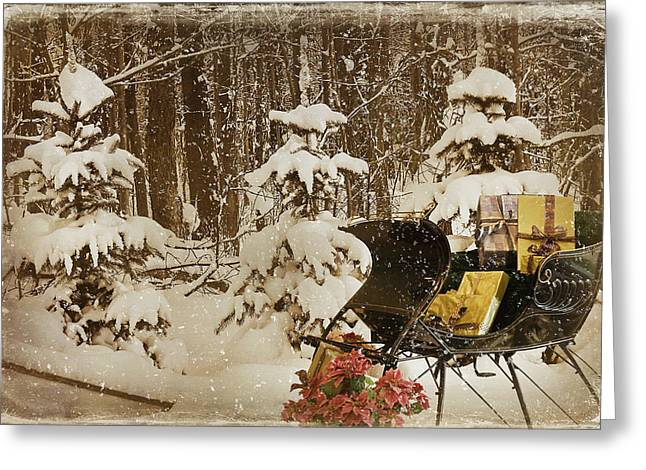 Christmas Delivery Greeting Card by Maria Dryfhout