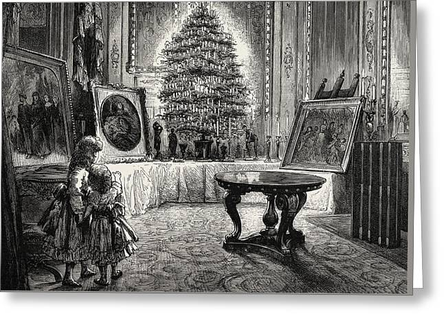 Christmas Eve At Windsor Castle Greeting Card by English School