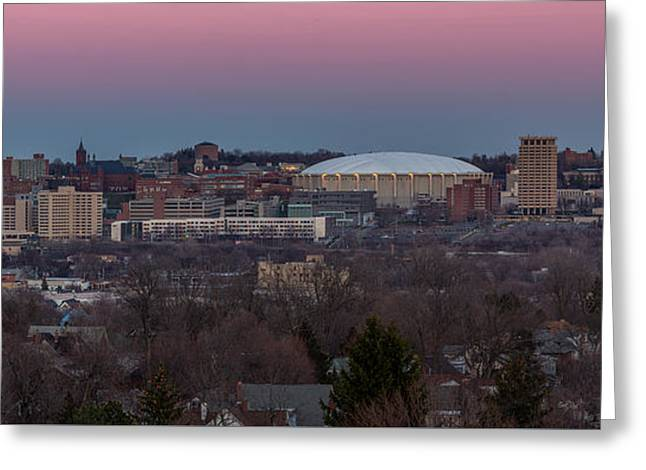 Christmas Eve Skyline Greeting Card by Everet Regal