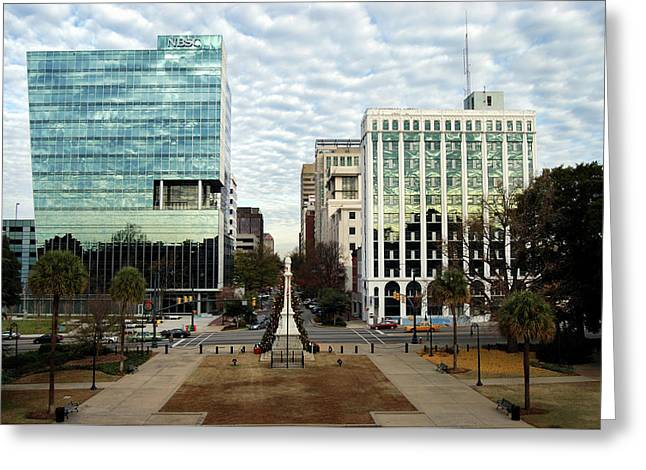 Christmas In Columbia Sc Greeting Card by Skip Willits