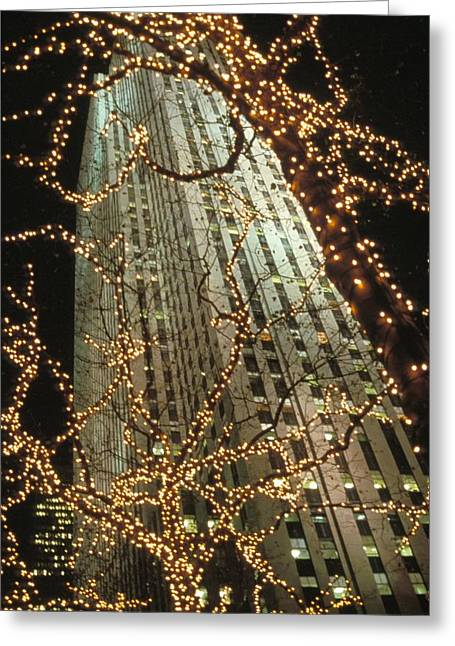 Christmas In Manhattan Greeting Card by Barbara Porto