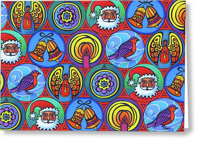 Christmas In Small Circles Greeting Card by Jane Tattersfield