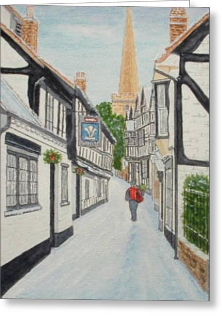 'christmas Mail', Ledbury, Herefordshire Greeting Card by Peter Farrow
