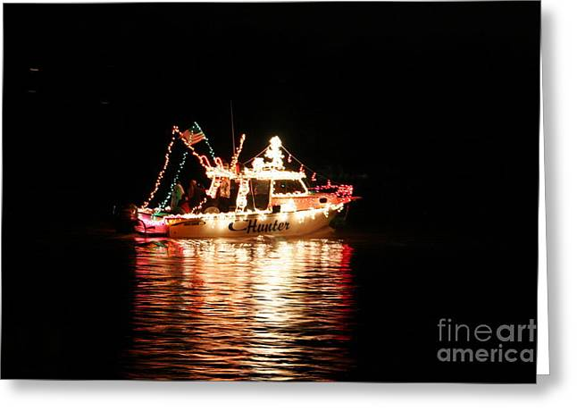 Morgan Hill Greeting Cards - Christmas on the James River Greeting Card by Morgan Hill