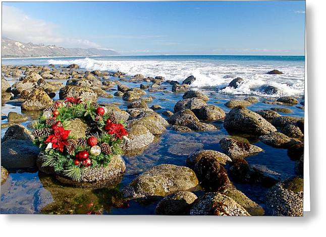 Christmas On The Rocks Greeting Card by Sharon and Kailey Sayre