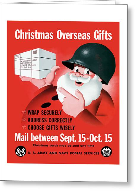 Military Art Greeting Cards - Christmas Overseas Gifts -- WW2 Greeting Card by War Is Hell Store