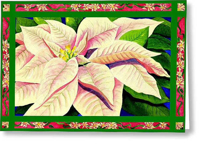 Paintng Greeting Cards - Christmas Poinsettia Greeting Card by Janis Grau