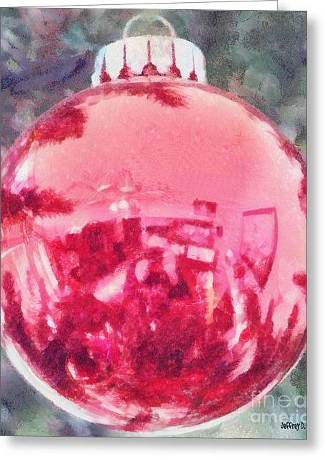 Reflected Greeting Cards - Christmas Reflected Greeting Card by Jeff Kolker