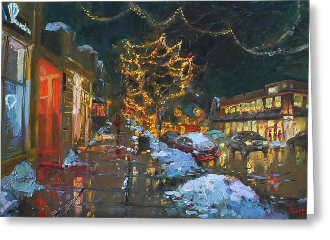 Christmas Reflections Greeting Card by Ylli Haruni