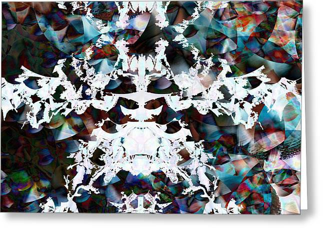 Hypnotic Abstract Greeting Cards - Christmas Snow Flake Greeting Card by Joshua Sunday