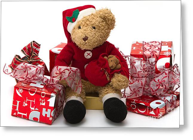 Teddybear Greeting Cards - Christmas Time Greeting Card by Louise Heusinkveld