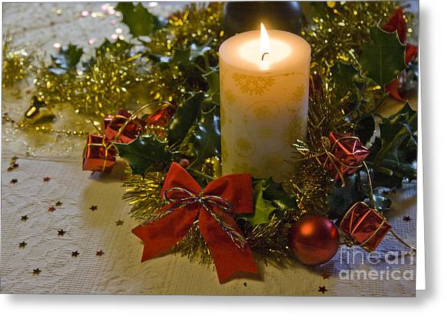 Tinsel Greeting Cards - Christmas Time  Greeting Card by Sophie De Roumanie