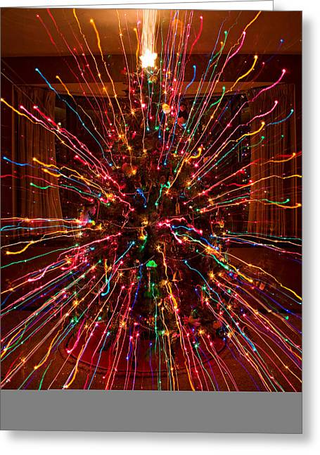Christmas Tree Colorful Abstract Greeting Card by James BO  Insogna