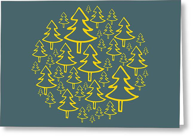Matt Greeting Cards - Christmas trees Greeting Card by Matt