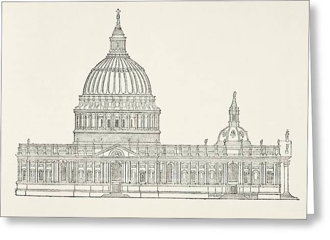 Wren Greeting Cards - Christopher Wren S First Design For The Greeting Card by Ken Welsh