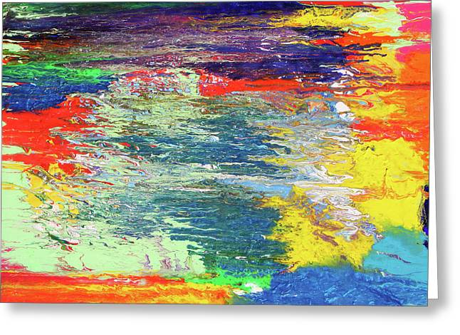 Chromatic Paintings Greeting Cards - Chromatic Greeting Card by Ralph White