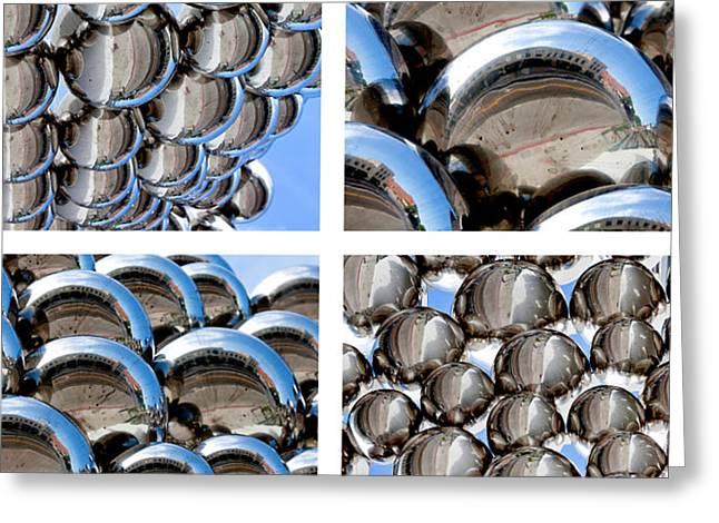Shinny Greeting Cards - Chrome Spheres Greeting Card by Art Block Collections