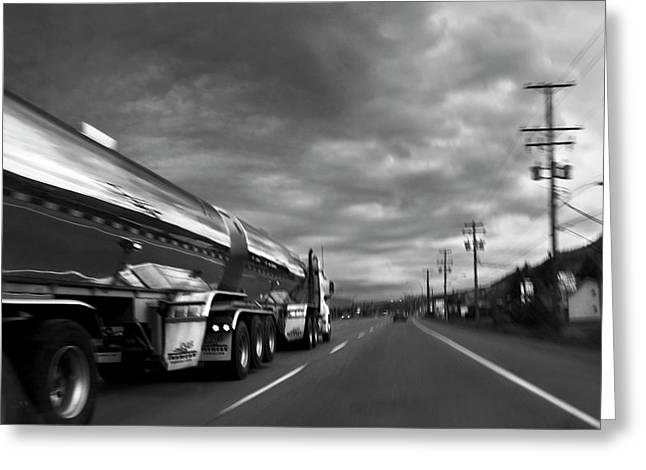 Chrome Tanker Greeting Card by Theresa Tahara