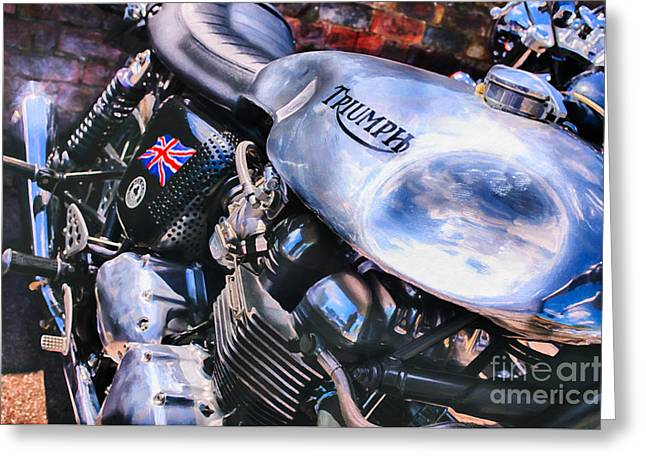 Chromed Cafe Racer Greeting Card by Tim Gainey