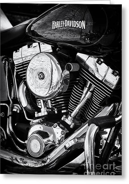 Petrol Green Greeting Cards - Chromed Light HD Greeting Card by Tim Gainey