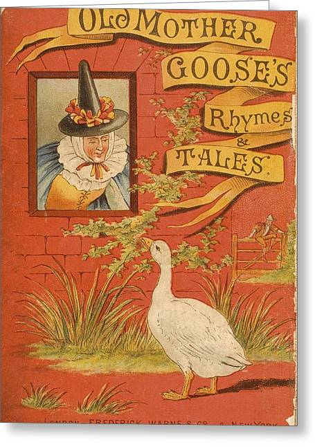 Mother Goose Greeting Cards - Chromolithographic Cover Illustration Greeting Card by Ken Welsh