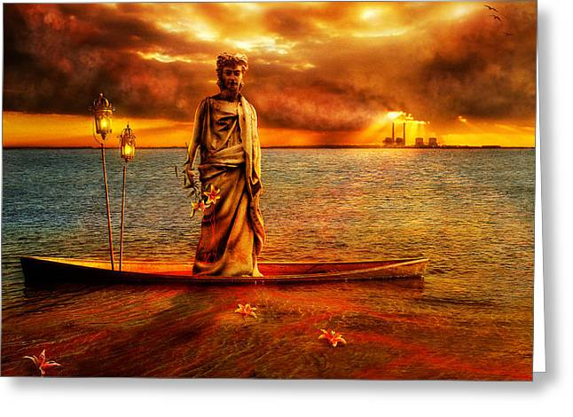Statue Portrait Greeting Cards - Chronicles of Shipwreck Greeting Card by Osvaldo Gonzalez