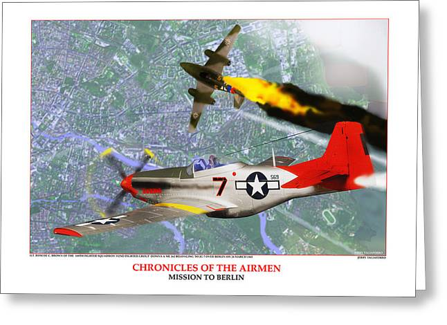 African-american Digital Greeting Cards - Chronicles Of The Airmen - Mission To Berlin Greeting Card by Jerry Taliaferro