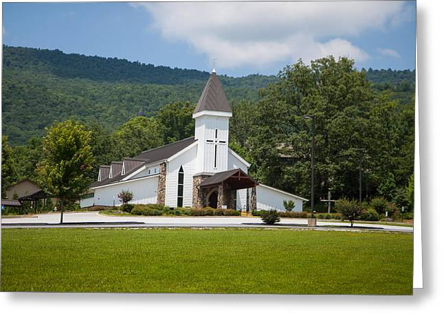 Religion Greeting Cards - Chruch in the mountains Greeting Card by Seth Solesbee