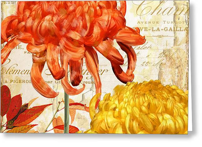 Chrysanthemum Greeting Cards - Chrysanthemes II Greeting Card by Mindy Sommers