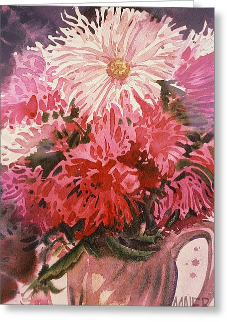 Mum Greeting Cards - Chrysanthemums Greeting Card by Donald Maier