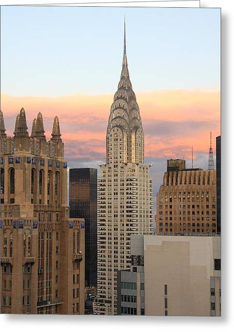 Inside You Greeting Cards - Chrysler Building 2 Greeting Card by Boris REYT