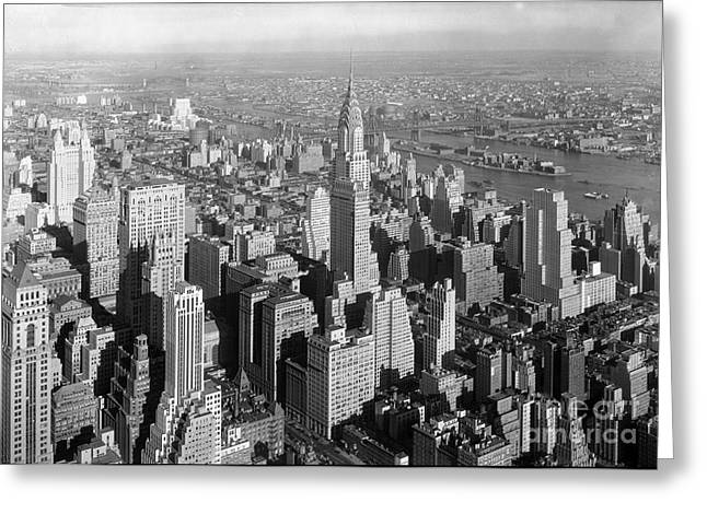 Midtown Paintings Greeting Cards - Chrysler Building Midtown Manhattan New York City  Greeting Card by Samuel Gottscho