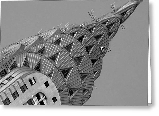 Mike Lindwasser Photography Greeting Cards - Chrysler building Greeting Card by Mike Lindwasser Photography