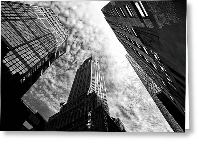 City Buildings Greeting Cards - Chrysler Building - New York City Greeting Card by Vivienne Gucwa