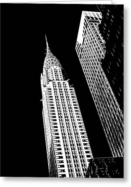 Art Of Building Greeting Cards - Chrysler Nights Greeting Card by Az Jackson