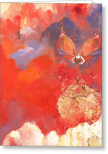 Cocoon Mixed Media Greeting Cards - Chrysos Greeting Card by Caroline Nevin