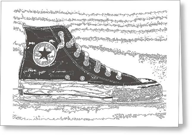 Csu Greeting Cards - Chuck Taylor High Tops Greeting Card by Michael Lax