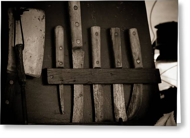 Essential Greeting Cards - Chuckwagon Knives Greeting Card by Toni Hopper